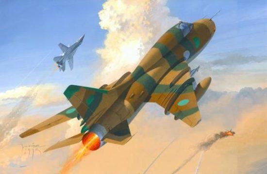 Mistercraft Su-22M3 Gulf of Sidra Conflict makett
