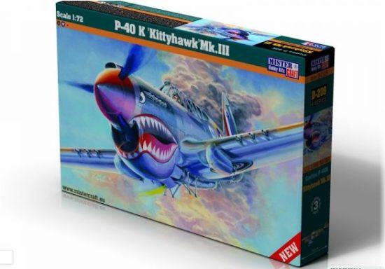 Mistercraft P-40 K Kittyhawk Mk.III makett