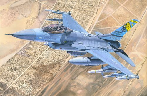 Mistercraft F-16C-30 Ramstain Dragon makett