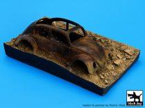 Black Dog Destroyed german car Afrika base