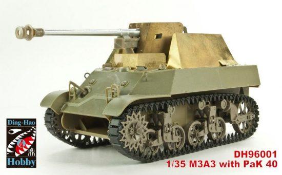 AFV Club M3A3 with Pak 40 (Yugoslav) makett