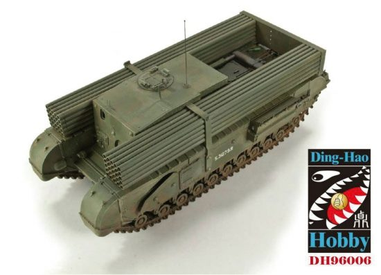 AFV Club 1/35 British 3 Inch gun Churchill tank &