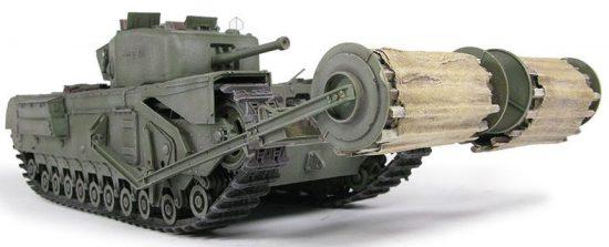 AFV Club Churchill Mk IV with Carpet Layer (Type B) Twin Bobbins makett