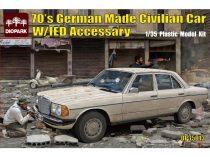 Diopark 70's German Made Civilian Car Mercedes W123 makett