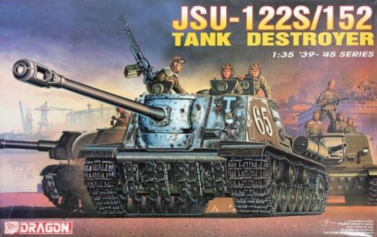 Dragon Russian JSU-122S/152 Tank Destroyer makett