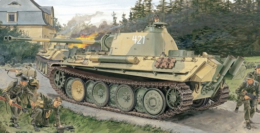 Dragon Pz.Kpfw.V Panther Ausf.G Late Production Sd.Kfz.171 makett