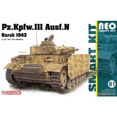 Dragon Pz.Kpfw.III Ausf. N Kursk 1943 makett