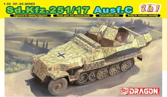 Dragon Sd.Kfz.251/17 Ausf.C /Command Vers. makett