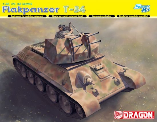 Dragon Flakpanzer T-34(R) makett