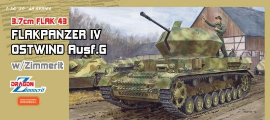 Dragon 3.7cm FlaK 43 Flakpanzer IV makett