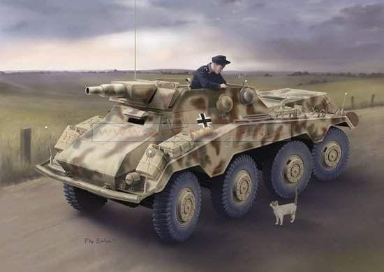 Dragon Sd.Kfz.234/3 schwere Panzerpähwagen (7.5cm) - Premium Edition makett