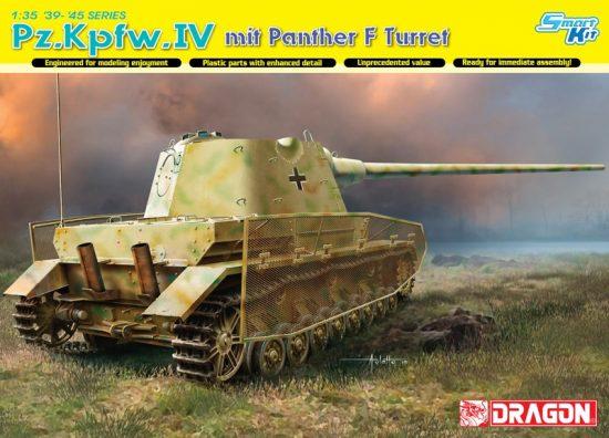 Dragon Pz.Kpfw.IV mit Panther F Turret makett