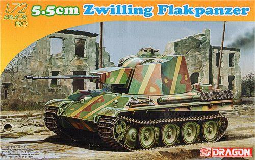 Dragon 5.5cm Zwilling Flakpanzer makett
