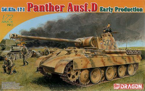 Dragon Pz.Kpfw.V Panther D Early Production Sd.Kfz.171 makett