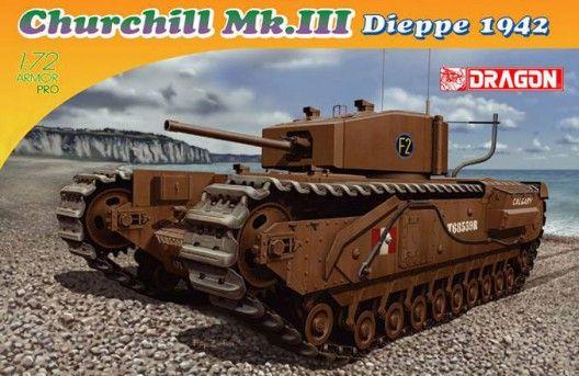 Dragon Churchill MK.III Dieppe 1942 makett