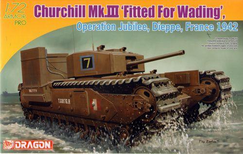 Dragon Churchill Mk.III Deep Wading makett