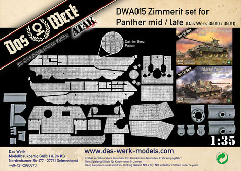 Das Werk Zimmerit Set for Panther mid/late