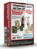 AK EXTINGUISHERS, BOXES AND CANS SET