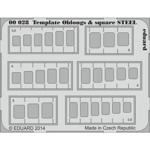 Eduard Template oblongs & square STEEL