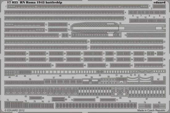Eduard RN Roma 1943 battleship (Trumpeter)