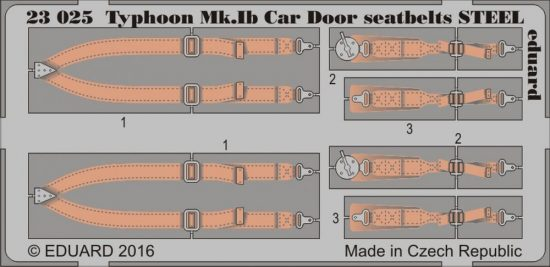Eduard Typhoon Mk. Ib Car Door seatbelts STEEL (Airfix)