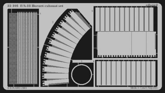 Eduard F-18 exhaust (Academy)