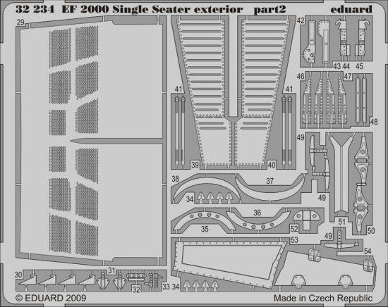 Eduard EF-2000 Typhoon Single Seater exterior (Trumpeter)
