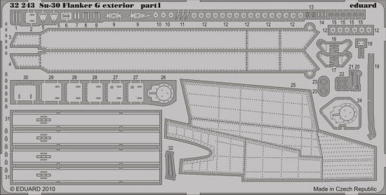 Eduard Su-30 Flanker G exterior (Trumpeter)