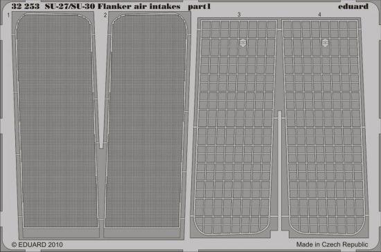 Eduard Su-27/Su-30 Flanker air intakes (Trumpeter)