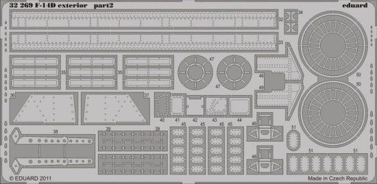 Eduard F-14D exterior (Trumpeter)