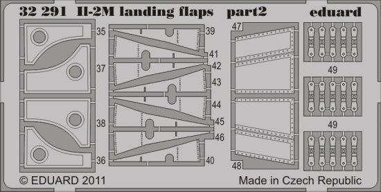 Eduard Il-2m landing flaps (Hobby Boss)