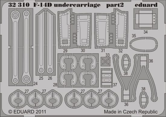 Eduard F-14D undercarriage (Trumpeter)