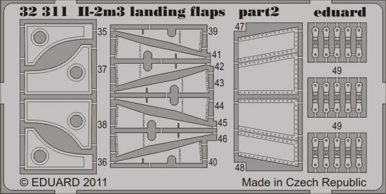 Eduard Il-2m3 landing flaps (Hobby Boss)