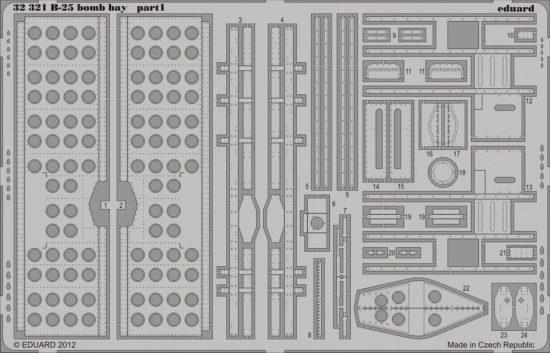 Eduard B-25 bomb bay (Hong Kong Models)