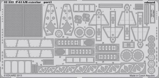 Eduard P-61A/B exterior (Hobby Boss)