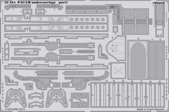 Eduard P-61A/B undercarriage (Hobby Boss)