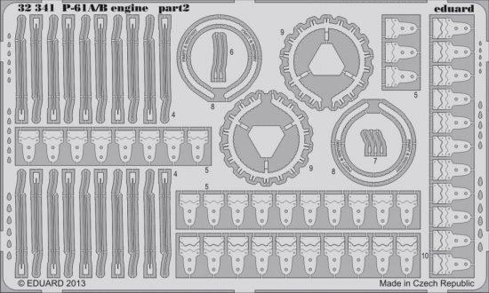 Eduard P-61A/B engine (Hobby Boss)