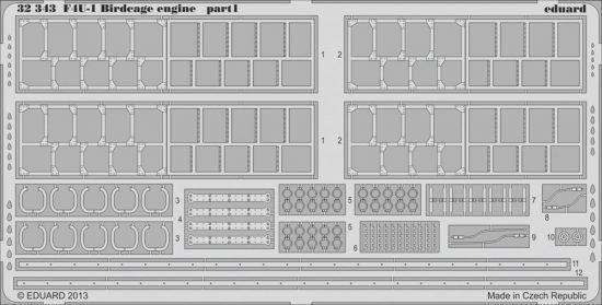 Eduard F4U-1 Birdcage engine (Tamiya)