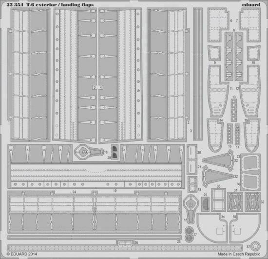 Eduard T-6 exterior/ landing flaps (Kitty Hawk)