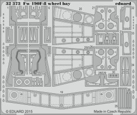 Eduard Fw 190F-8 wheel bay (Revell)