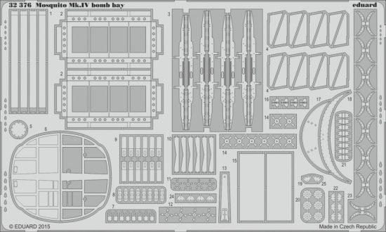 Eduard Mosquito Mk.IV bomb bay (Hong Kong Models)