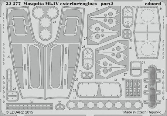 Eduard Mosquito Mk.IV exterior/engines (Hong Kong Models)