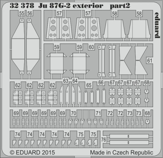 Eduard Ju 87G-2 exterior (Trumpeter)