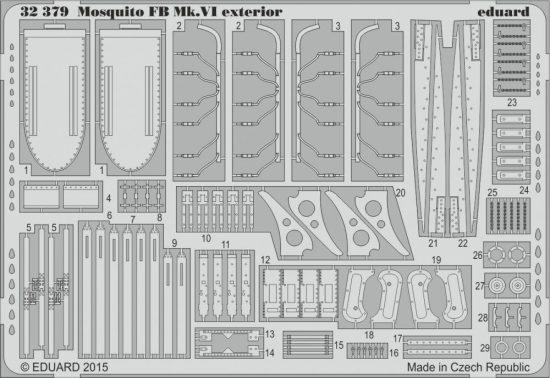 Eduard Mosquito FB Mk.VI exterior (Tamiya)