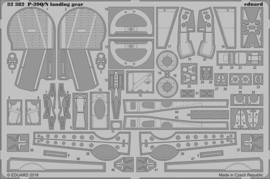 Eduard P-39Q/N landing gear (Kitty Hawk)