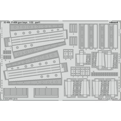 Eduard P-40N gun bays (Trumpeter)