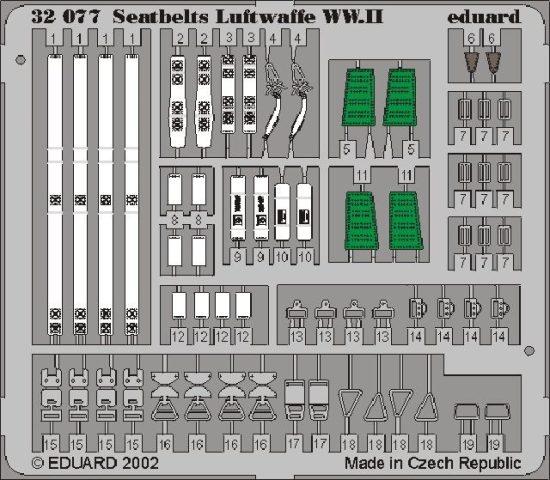 Eduard Seatbelts Luftwaffe WWII
