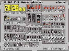 Eduard F-18 placards