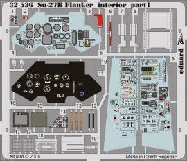 Eduard Su-27 Flanker B interior (Trumpeter)