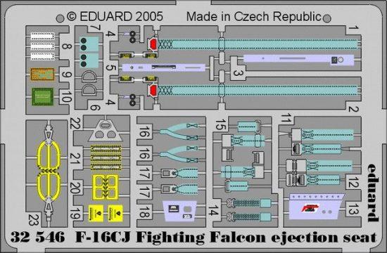 Eduard F-16CJ ejection seat (Tamiya)